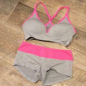 like new SO brand sports bra and boy shorts
